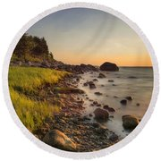 Round Beach Towel featuring the photograph Rocky Point Sunset by Robin-Lee Vieira