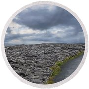 Rocky Road To The Lighthouse Round Beach Towel