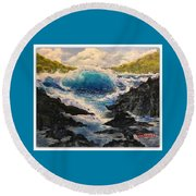 Rocky Sea Round Beach Towel