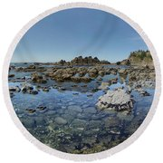 Rocky Sea Panorama Round Beach Towel by Adria Trail