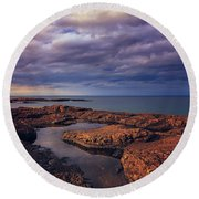 Rocky Storm Two Round Beach Towel by Rachel Cohen