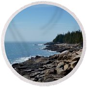 Rocky Summer Shore Round Beach Towel