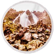 Rocky Water Wilderness Round Beach Towel