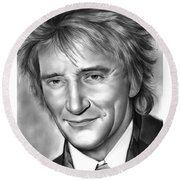 Rod Stewart Round Beach Towel
