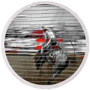 Rodeo Abstract V Round Beach Towel