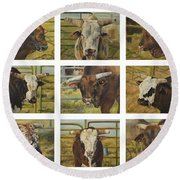 Rodeo Royalty Round Beach Towel