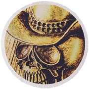 Rodeo Spook Round Beach Towel