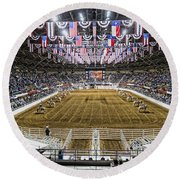 Rodeo Time In Texas Round Beach Towel