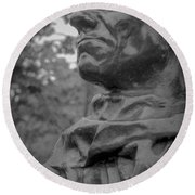 Round Beach Towel featuring the photograph Rodin Burgher - II by Samuel M Purvis III