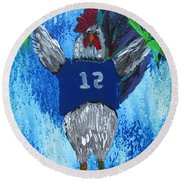 Rodney Rooster Round Beach Towel
