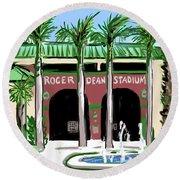 Roger Dean Stadium Round Beach Towel