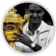 Roger Federer 2a Round Beach Towel