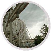 Roller Coaster 5 Round Beach Towel