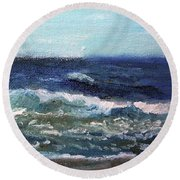 Rolling Along Round Beach Towel