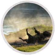 Rolling Round Beach Towel