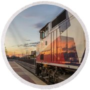 Rolling Into The Sunset Round Beach Towel