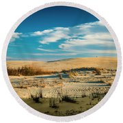 Rolling Sand Dunes Round Beach Towel