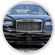 Rolls - Royce Wraith Coupe 2016 Round Beach Towel