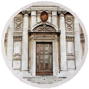 Roman Doors - Door Photography - Rome, Italy Round Beach Towel by Melanie Alexandra Price