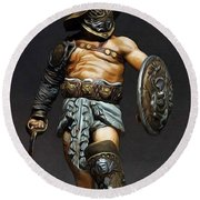Roman Gladiator - 02 Round Beach Towel