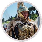 Roman Legion Pride Round Beach Towel