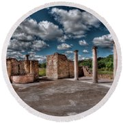 Roman Village  Round Beach Towel