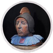 Roman Warrior Roemer - Roemer Nettersheim Eifel - Military Of Ancient Rome - Bust - Romeinen Round Beach Towel