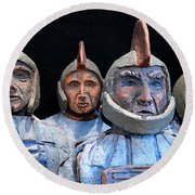 Roman Warriors - Bust Sculpture - Roemer - Romeinen - Antichi Romani - Romains - Romarere Round Beach Towel