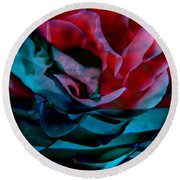 Romance - Abstract Art Round Beach Towel by Jaison Cianelli