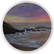 Romantic Shore Round Beach Towel
