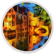 Romantique Round Beach Towel by Greg Collins