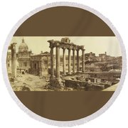 Romanum Round Beach Towel