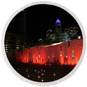 Round Beach Towel featuring the photograph Romare Bearden Park by Serge Skiba