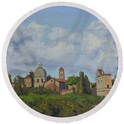 Rome Afternoon Round Beach Towel