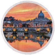 Rome And The Vatican City - 01  Round Beach Towel