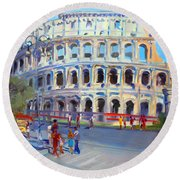 Rome Colosseum Round Beach Towel