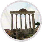 Rome The Eternal City Round Beach Towel