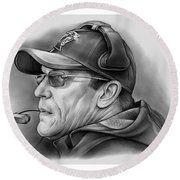 Ron Rivera Round Beach Towel by Greg Joens