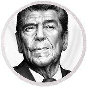 Ronald Reagan Round Beach Towel