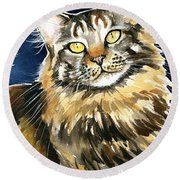 Ronja - Maine Coon Cat Painting Round Beach Towel