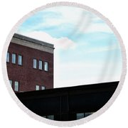 Rooflines No. 1 Round Beach Towel