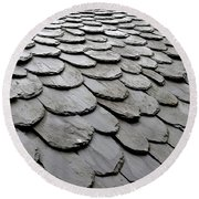Rooftiles  Round Beach Towel