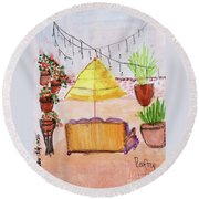 Rooftop At The Canary Round Beach Towel