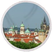 Rooftops Round Beach Towel