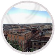 Rooftops Of Rome Round Beach Towel