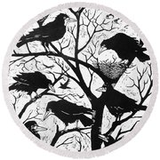 Rooks Round Beach Towel by Nat Morley