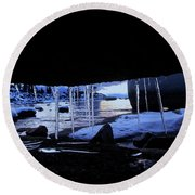 Round Beach Towel featuring the photograph Room For Rent by Sean Sarsfield