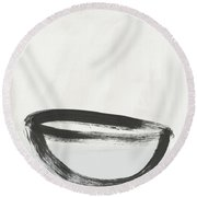 Room To Receive 1- Zen Abstract Art By Linda Woods Round Beach Towel