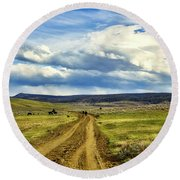 Room To Roam - Wyoming Round Beach Towel by L O C
