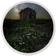 Round Beach Towel featuring the photograph Room With A View by Aaron J Groen